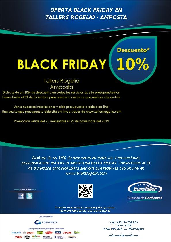 OFERTA BLACK FRIDAY  EN   TALLERS ROGELIO - AMPO